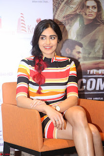 Adha Sharma in a Cute Colorful Jumpsuit Styled By Manasi Aggarwal Promoting movie Commando 2 (146).JPG