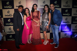 Actress Sophie Choudry in Transparent Red Dress (15).JPG