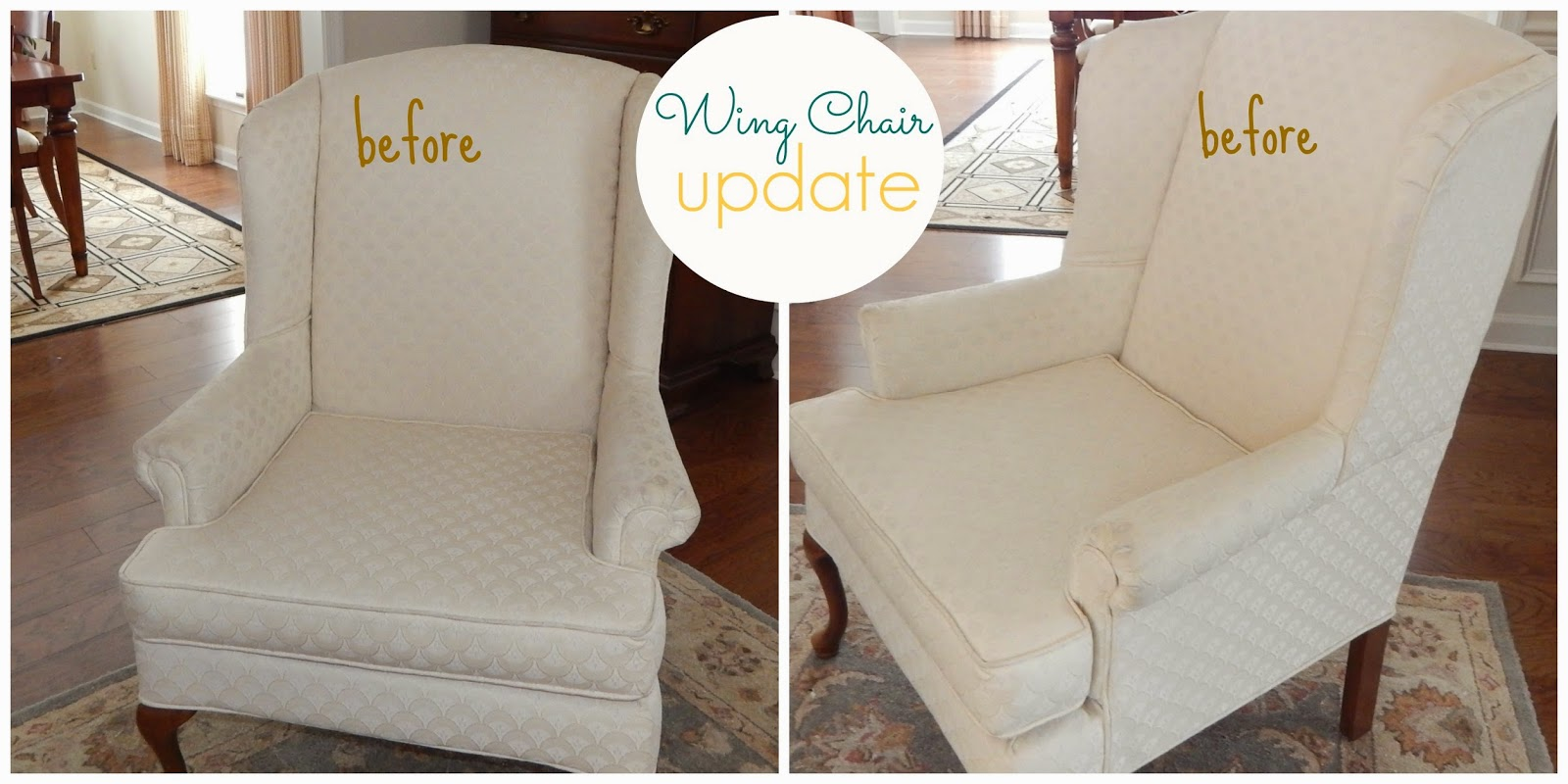 pam morris sews printed linen slipcover for a wing chair. Black Bedroom Furniture Sets. Home Design Ideas