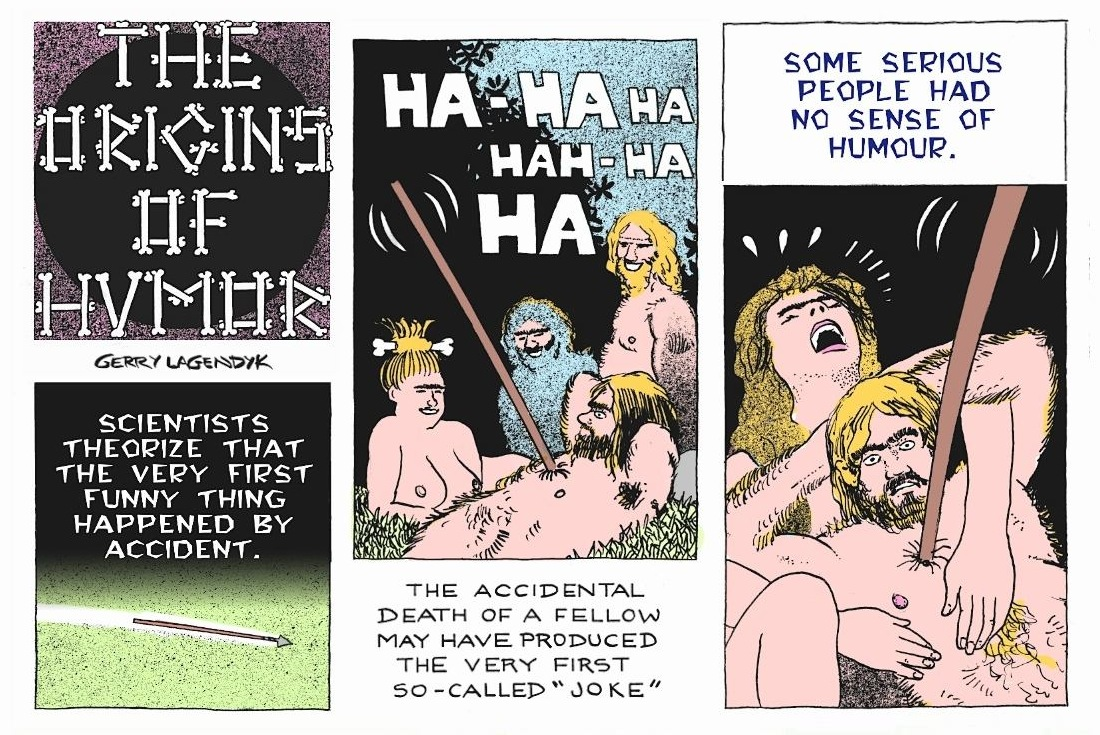 the Origins of Humor, history cartoon