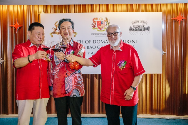 Launch of Domaine Laurent, the first ever red wine infused with Tongkat Ali by Jia De Bao Group Malaysia.