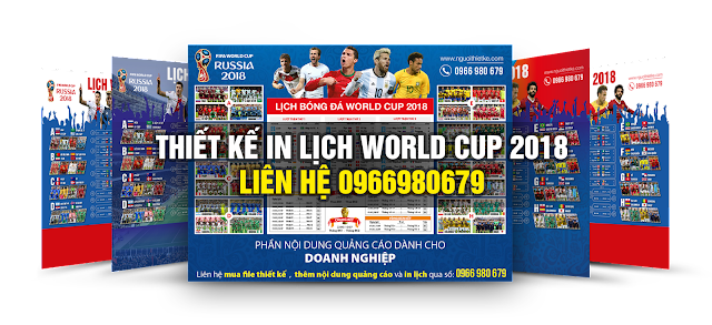 Lịch World Cup 2018 vector