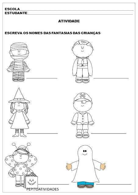Atividade Halloween Alfabetização