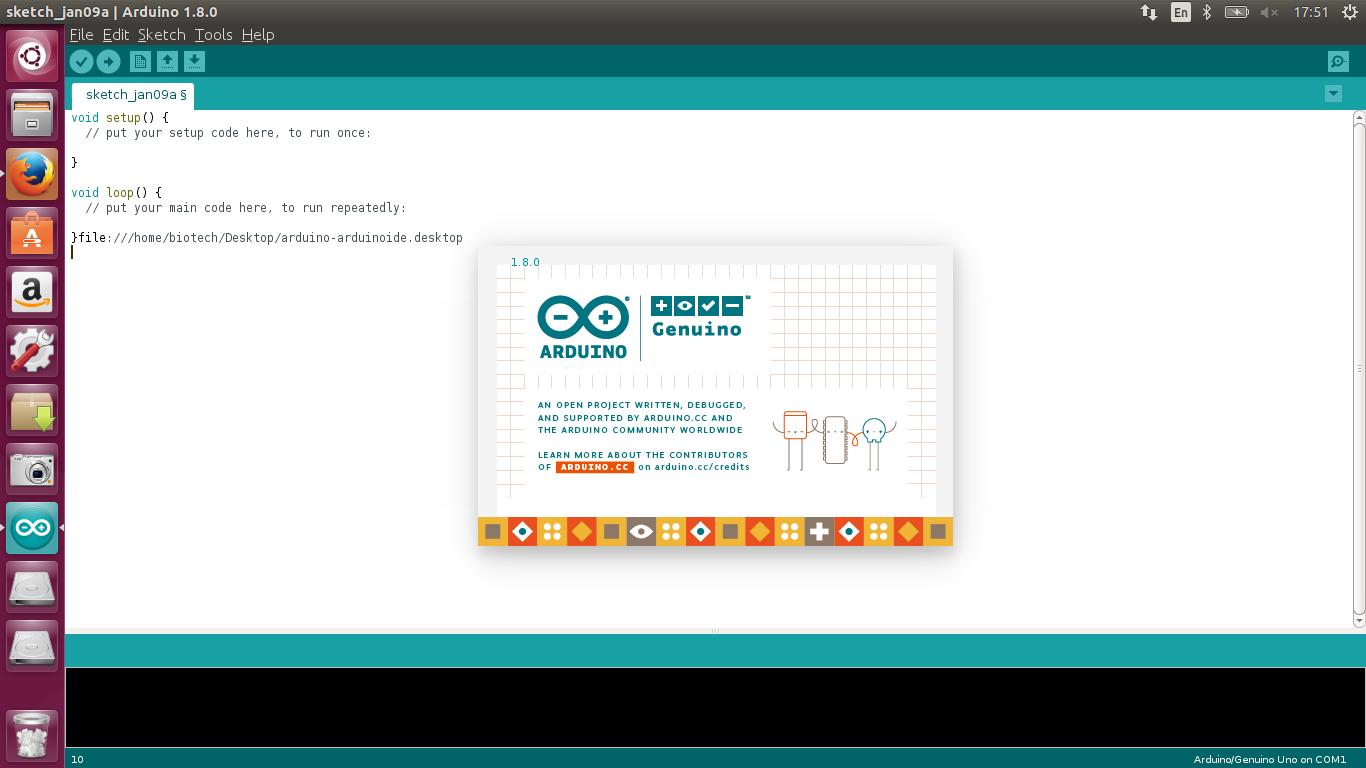 How to install program on ubuntu arduino