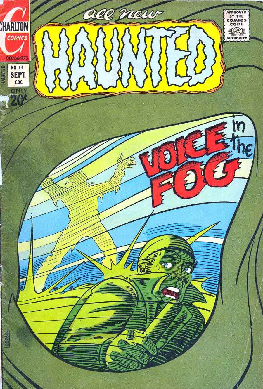 Haunted #14 charlton 1970s bronze age horror comic book cover art by Steve Ditko