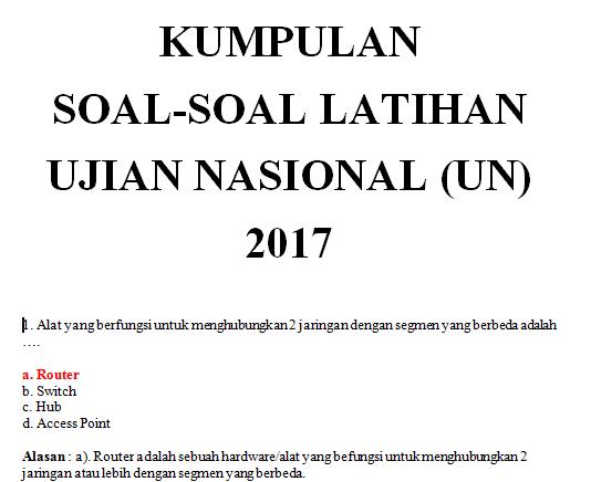 Download Kumpulan Soal-soal SD Versi Terbaru 2018/2019