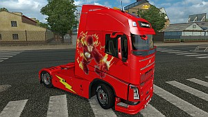 The Flash Volvo 2013 skin