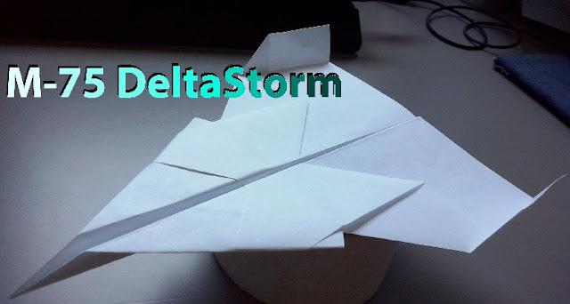 Avión de papel M-75 DeltaStorm