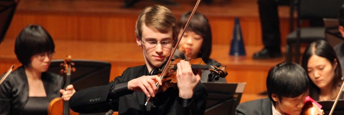 Kenneth Renshaw, Senior 1st prize winner in the 2012 Menuhin Competition