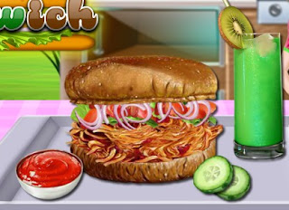 Barbecue Chicken Sandwich Cooking Game