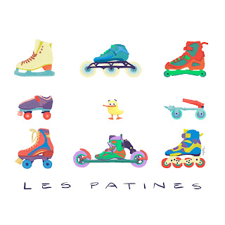 les patines, skating, duck, funny t-shirts