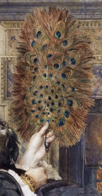 "Edward John Poynter ""The Peacock Fan, Portrait of Elizabeth Courtauld"" 1871"
