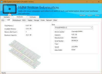 Ver información detallada acerca del hardware y software instalado en tu ordenador