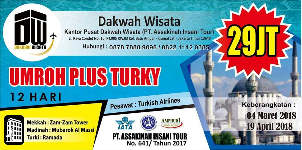umroh dakwah wisata plus turki
