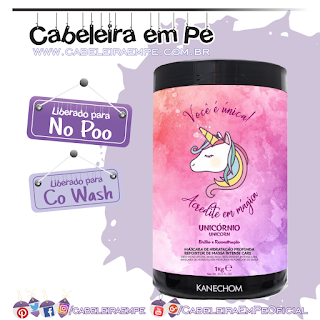 Máscara Condicionante Unicórnio - Kanechom (No Poo e co wash)