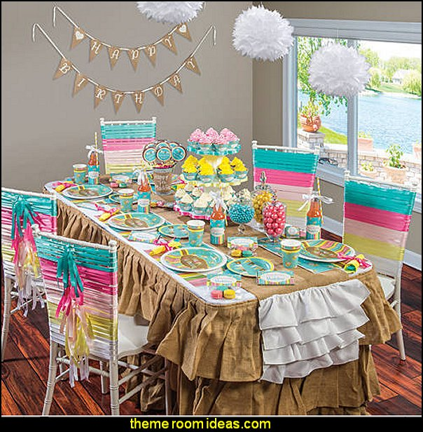 girls party decorations Sugar and Spice Party Supplies girls theme party ideas