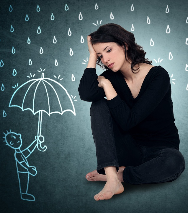 Women have a higher chance of getting depression than men, especially those who were living alone, and those who were previously married. Depression is also more common in the lower income group or those who are retired or unemployed.