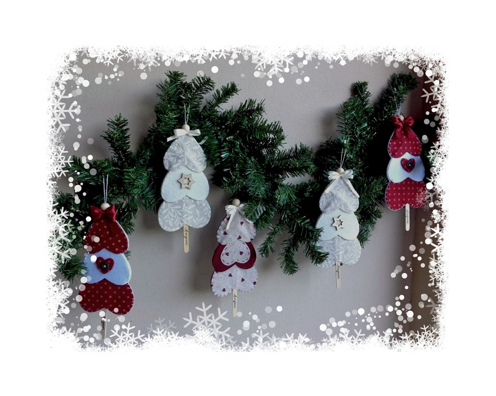 Decorazioni Per Albero Di Natale Con Pannolenci Disegni Di Natale 2019
