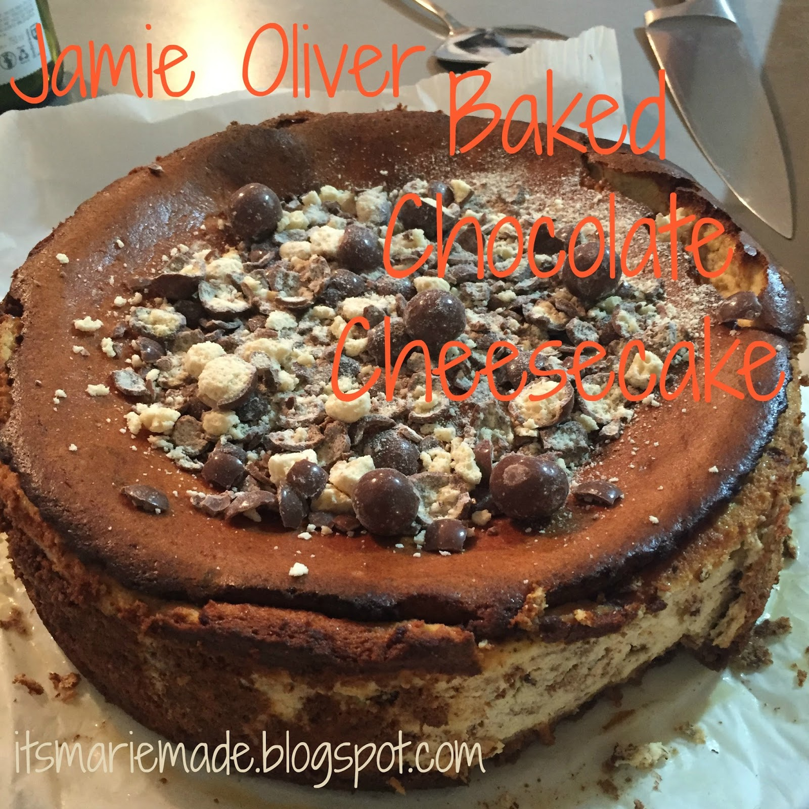 Its Marie Made Recipe Jamie Oliver Baked Chocolate Cheesecake