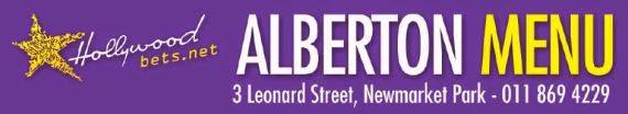 Hollywoodbets Alberton Menu - 3 Leonard Street, Newmarket Park
