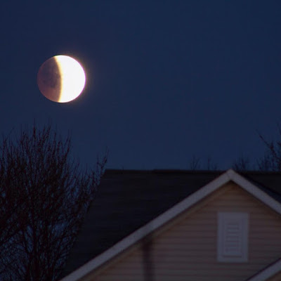 April 4, 2015 lunar eclipse in Indiana