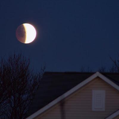 April 4, 2015 lunar eclipse in Indiana