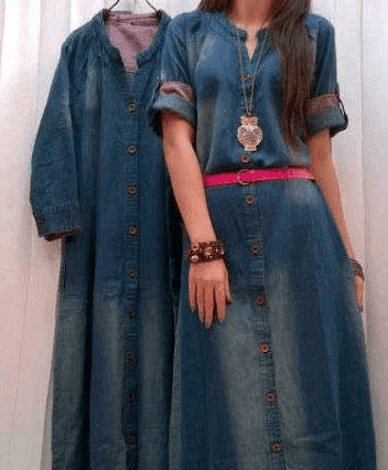 Baju Celana Berbahan Denim