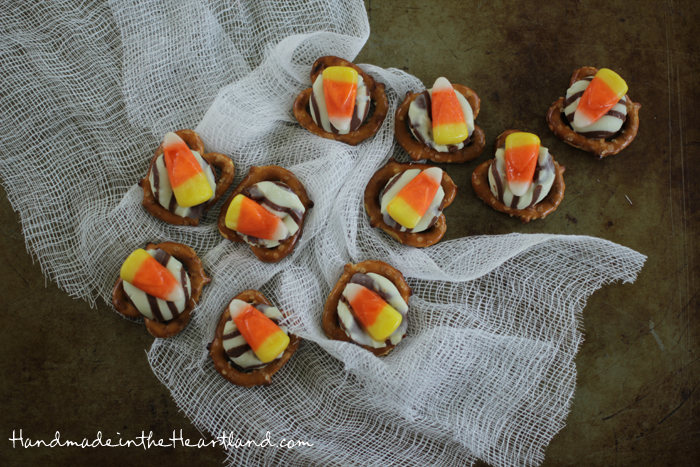 recipe for candy corn pretzel bites