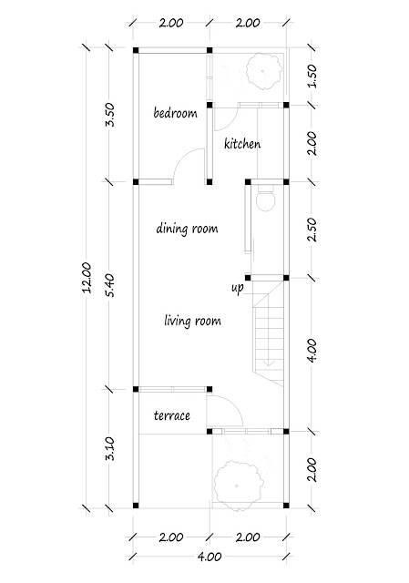 floor plan of narrow house 03