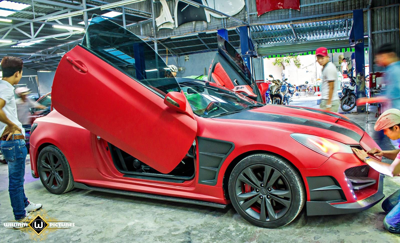 Quá trình hoàn thiện và độ lại chiếc Genesis Coupe đời 2010 tại Phi Long bodykits