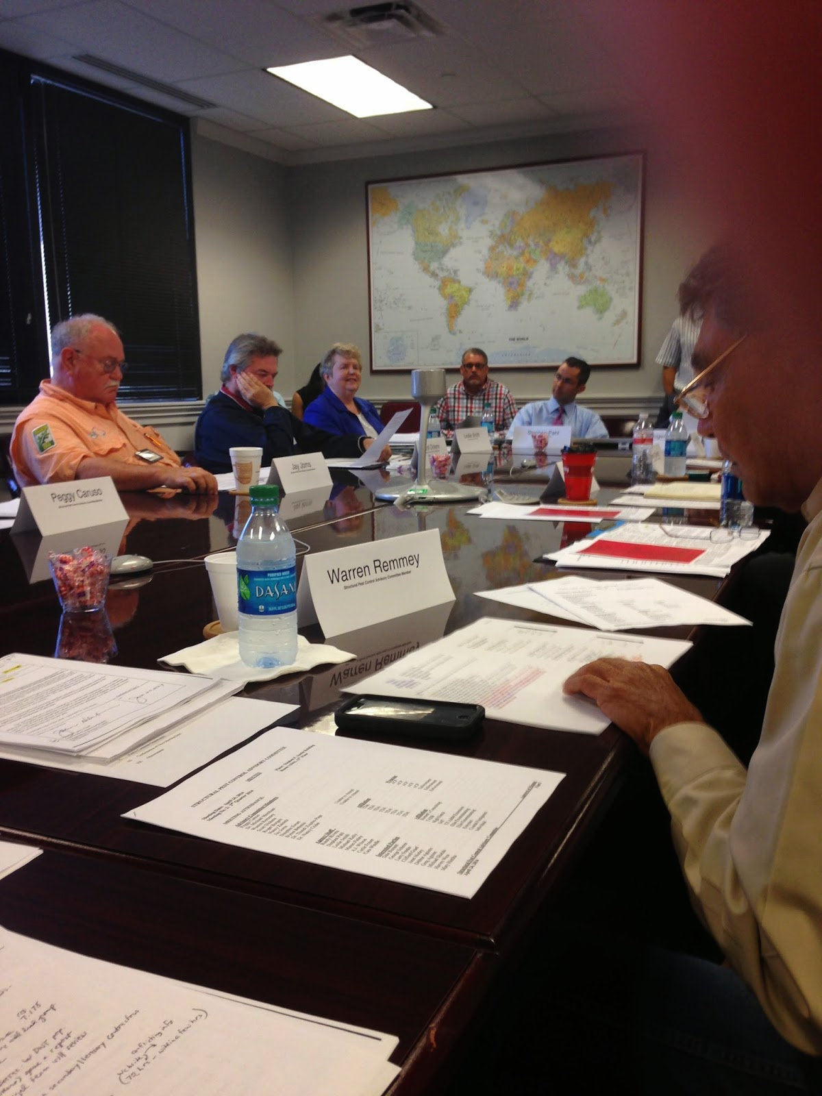 Texas Structural Pest Control Advisory Committee at work