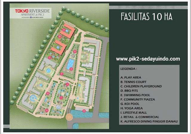 Fasilitas Apartemen Tokyo Riverside PIK 2 Jakarta