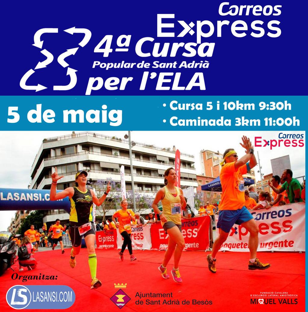 Cursa Correos Express Sant Adrià per l'ELA