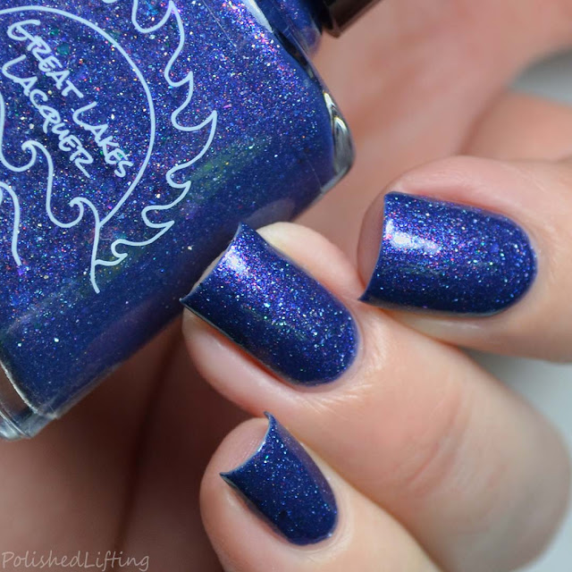blurple flakie nail polish