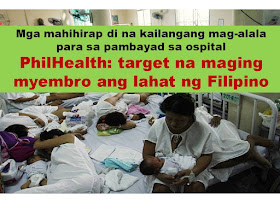 """For 2017,  a proposed budget of P3.35-trillion shall cover the healthcare and tuition fee of state universities or colleges in Philippines. According to Sen. Loren Legarda, there is also additional P3 billion allocated to Philippine Health Insurance Corp. (PhilHealth) for the coverage of all Filipinos    """"The Department of Health (DOH) said there are some eight million Filipinos still not covered by PhilHealth. It is our duty, in serving the public, to extend basic healthcare protection to all our people. That is why we pushed for the augmentation of the PhilHealth's budget so that in 2017, we achieve universal healthcare coverage,"""" Legarda said.  Sen. Legarda said this universal healthcare coverage will help any non-member of PhilHealth to avail healthcare service in public hospitals and be enrolled automatically in the system.   Those who doesn't have the capacity to pay shall be the priority for the program.   Including on those who will receive the benefits are the Indigent patients. They will no longer be required to pay for anything in government hospitals under the """"No Balance Billing"""" as mandated under the Amended National Health Insurance Act or Republic Act 10606, which Legarda principally authored.   Republic Act No. 10606 (National Health Insurance Act of 2013)  states that, """"No other fee or expense shall be charged to the indigent patient, subject to the guidelines issued by the Corporation. All necessary services and complete quality care to attain the best possible health outcomes shall be provided to them"""".  The budget will also allocate P96.336 billion for Department Of Health, this will then be used for the construction of additional health facilities and drug rehabilitation centers in the country.        The Filipino citizens who will be covered under this provision, through a POINT of Service (POS) Program, must be classified as financially incapable to pay his/her Philhealth membership according to the DOH classification on indigence.   PUT GRAP"""