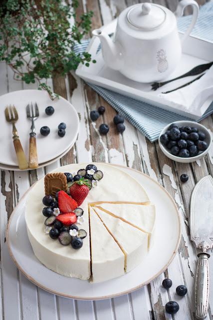 Entremets cheesecake aux myrtilles