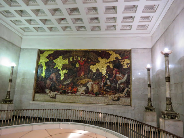 Artwork in the metro in St. Petersburg, Russia