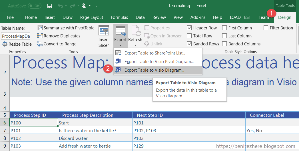 Tech Tip Flowcharts With Excel And Visio Barhead Solutions