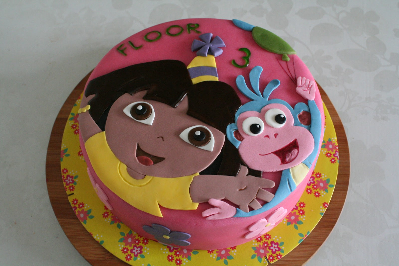 Dora And Boots Cake How To