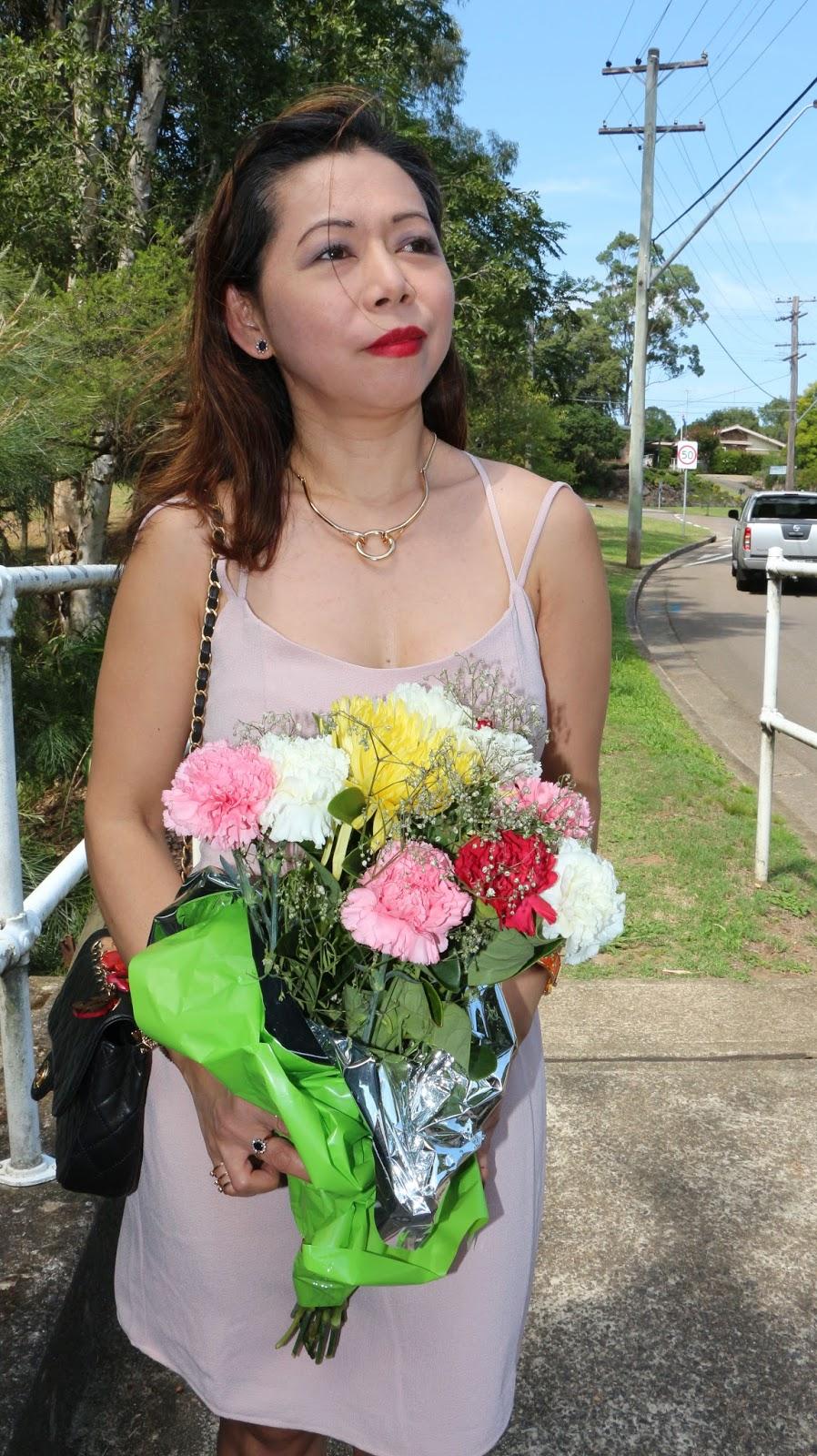 Tobi blush dress