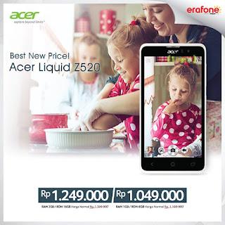 Harga Terbaru Acer Liquid Z520 Android Murah 5 inch Harga 1 Jutaan