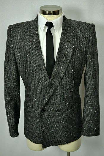 Grey 80s suit jacket with white flecks