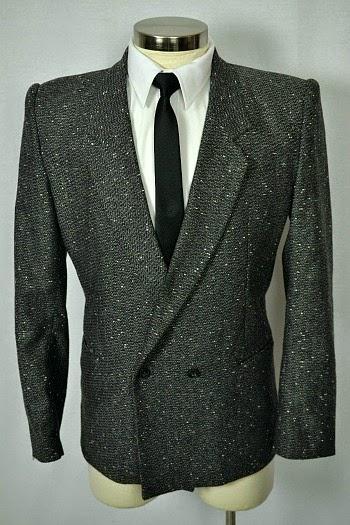 Grey 80s suit jacket with white flecks