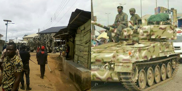 BREAKING: Nigerian Army begins gradual withdrawal from Aba