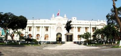 Foto del Congreso de la República del Perú por fuera