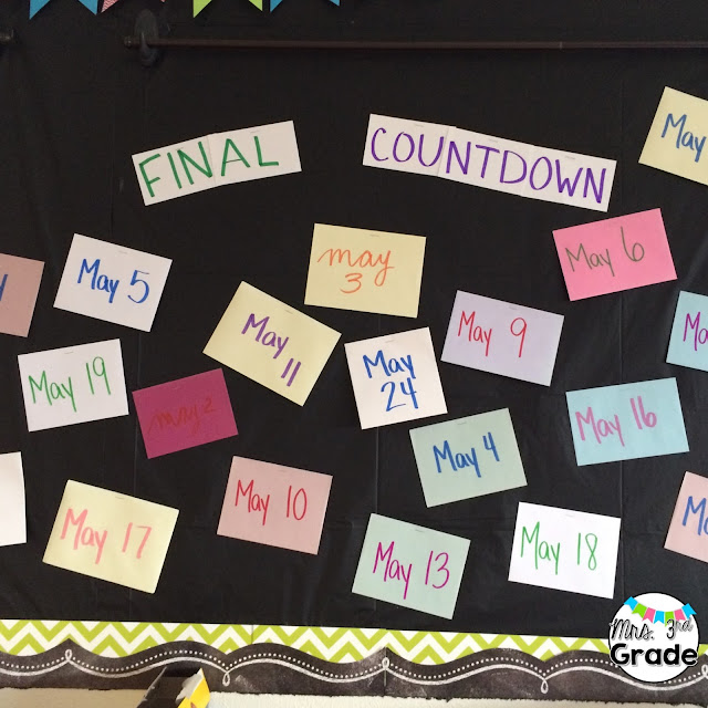 Our countdown until the end of the school is a great way to build excitement and have fun!