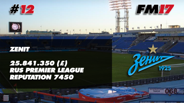 Football Manager 2017 Zenit Transfer Budget