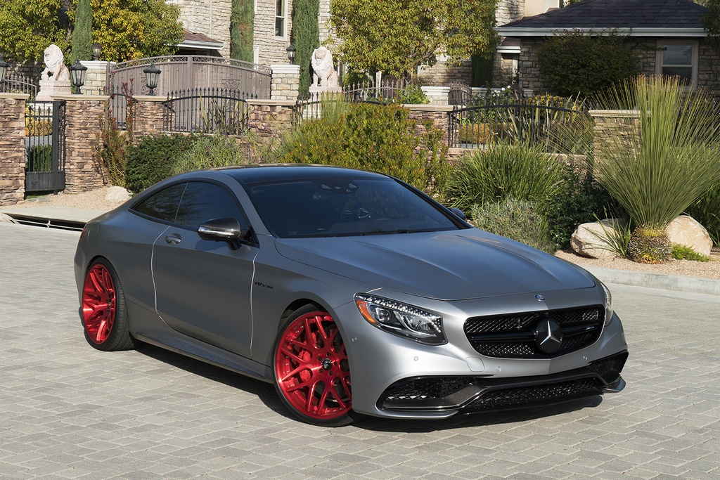 mercedes amg c217 s65 on candy red 22 forgiato s202 wheels benztuning. Black Bedroom Furniture Sets. Home Design Ideas