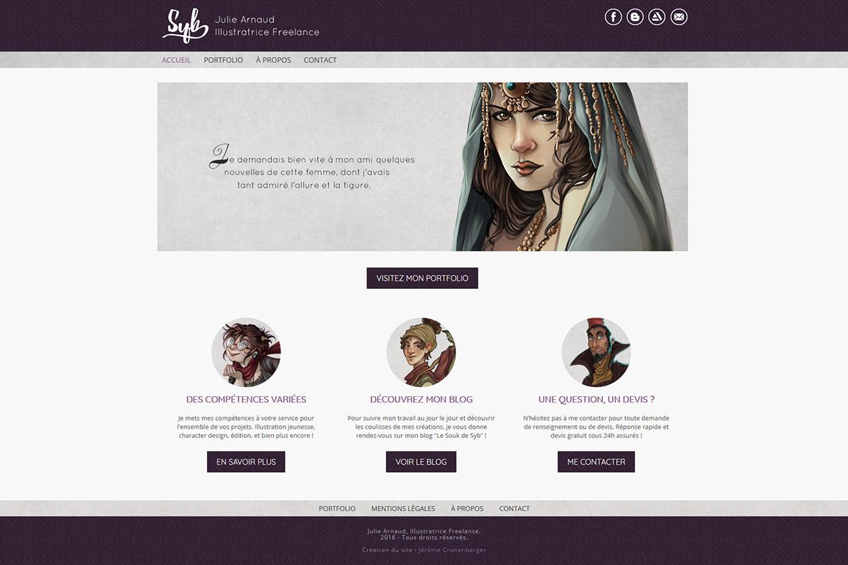 Création de site internet, syb illustration