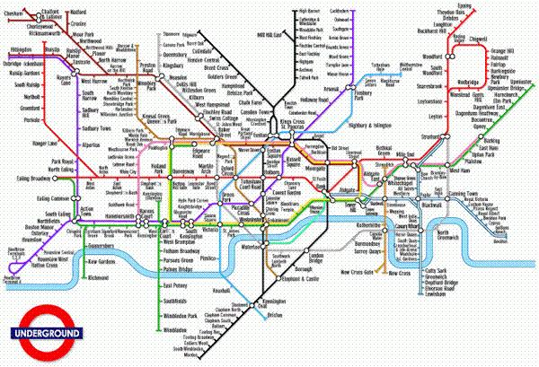 Mapa de metro, Londres